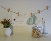 CUSTOM ORDER Decorative Mini Pegs and Twine