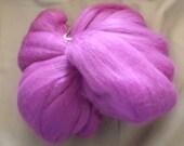 Destash Merino Fibre Wool Tops in Deep Lilac 100g Fleece Wet Felting, Dry Needle Felt, Spinning, Fibre Arts Crafts