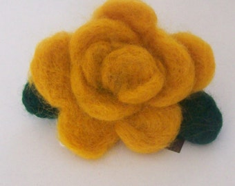 Needle Felted Rose Brooch