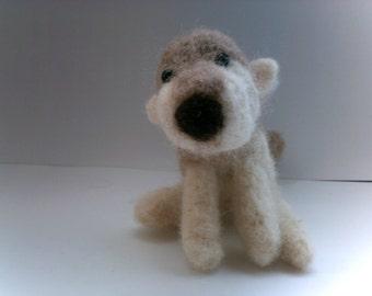 Needle Felted Custom OOAK Dog Character - Pet Pawtrait