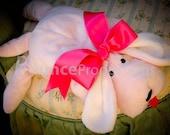 Valentine Toy, Stuffed Animal, Baby Toy, Baby Shower Stuff, Baby Shower Gift, Baby Girl, Toy for Baby to Sleep With, Minky Stuffed Animal