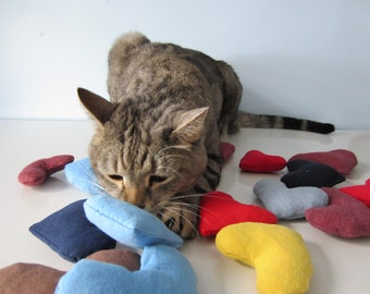 Upcycled Organic Catnip Cat Toy made from Recycled T-Shirts