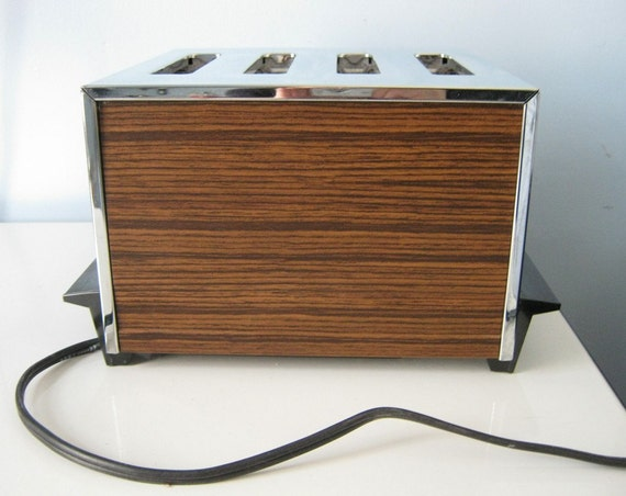 Vintage Toaster General Electric Faux Wood Grain Toaster