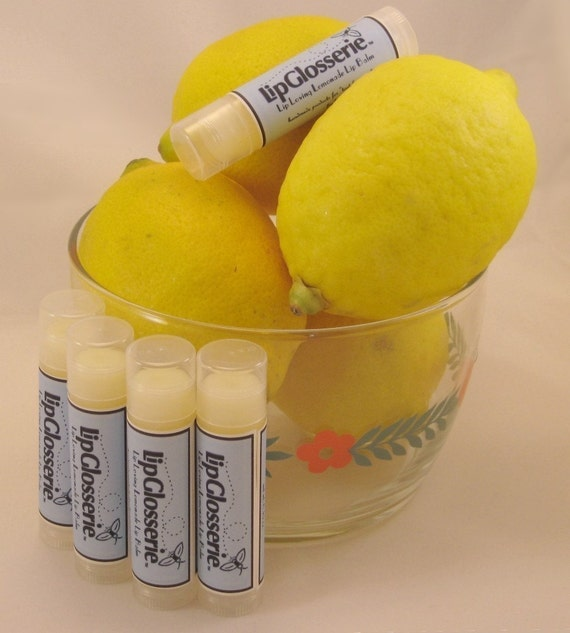 Free Shipping - Lemonade Vegan Lip Balm - Handmade - Vegan