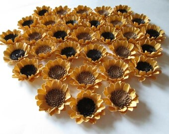 Wedding Paper Sunflowers 100-2 1/2 inch Made to Order Handmade
