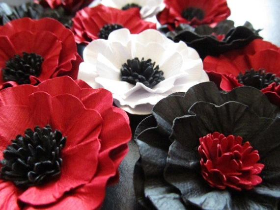 Weddings Handmade Paper Poppy Flowers 100-2 1/2 inch in the colors of your choice