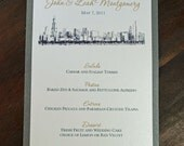 Chicago Skyline Landmark - Menu - White/Onyx(Grey)