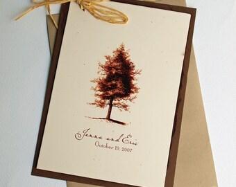 Rustic Wedding Invitation, Kraft Wedding Invitation, Vintage Country Tree Invitation Set