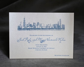 Chicago Skyline - Wedding Invitation - Custom