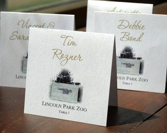 Chicago Landmark Place Card - 1 layer - White