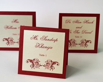 Custom Ruby Red Placecard