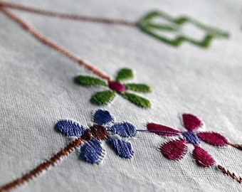 Indian Embroidered Handmade Paper, Floral Paper