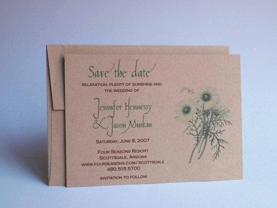 Wedding Save the Date - Spring Flower Botanical