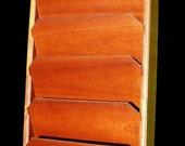 Handmade Mahogany File Rack