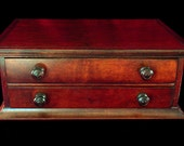 2 Drawer Paper Cabinet in CHERRY WOOD - Small