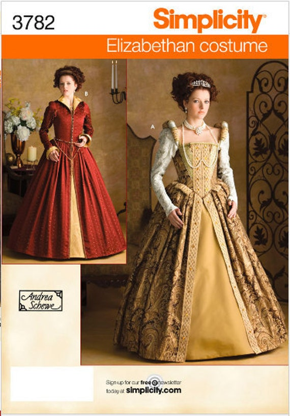 Simplicity 3782 Elizabethan Costumes for Women in Sizes 6-12