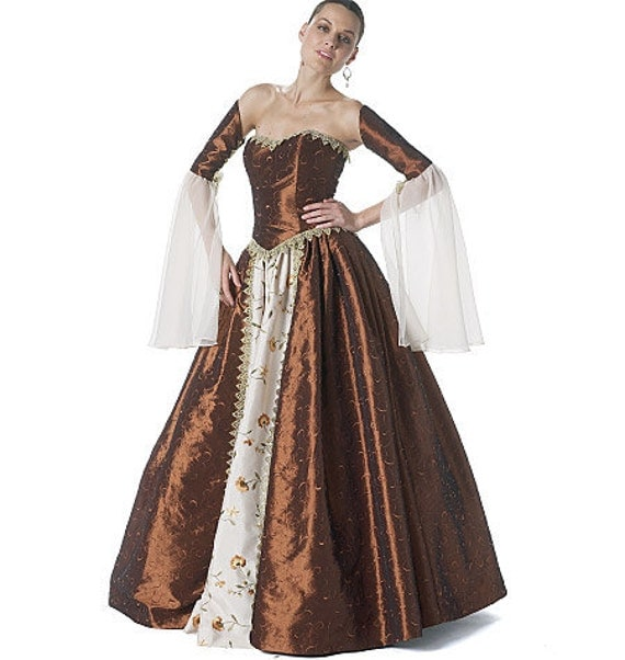 McCall's 6343 Women's Historical Medieval Period Costume in Sizes 14-20