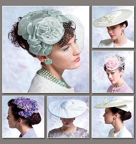 Vogue 8052 Circa 1950 Vintage Hats For Women
