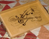 Music Lovers Wooden Coffee Tray