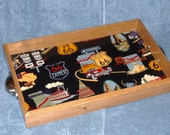 Route 66 wooden coffee tray 11x18x1.5