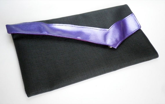 Cocktail Clutch Bag Violet Trim FINAL SALE