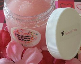 PEPPERMINT KISS 4oz. Vegan Sugar Scrub made with Organic Sugar