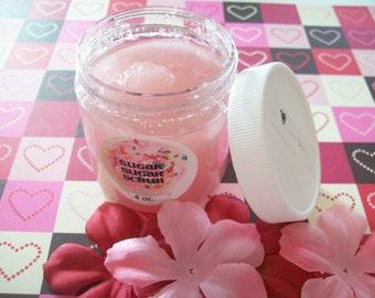 LOVE Story Sugar Scrub - Vegan - Cherry Blossom, White Jasmine and Peach  - 4oz.