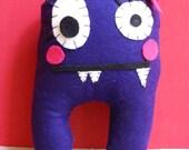 Female stuffed monster plush toy 'Bada'-- Purple