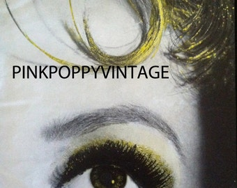 20% Off SALE Coupon Code FAVORITE20 Vintage Vogue Magazine December 1959 Fashion Editorial Face With Gold Dust