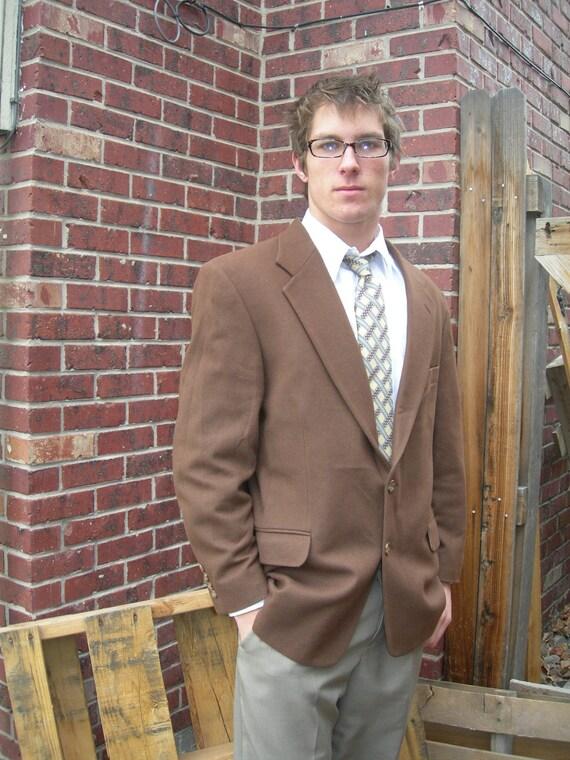Oscar De La Renta Brown Vintage Suit Jacket