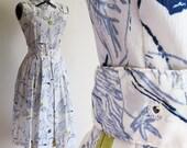vintage 1960s WINTER WISPS Sleeveless Dress