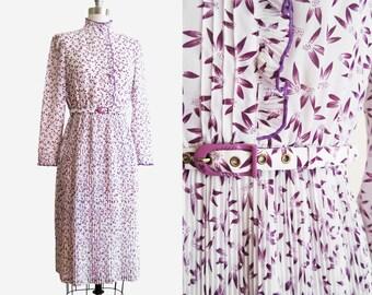 Vintage 1980s FLUTTER Day Dress