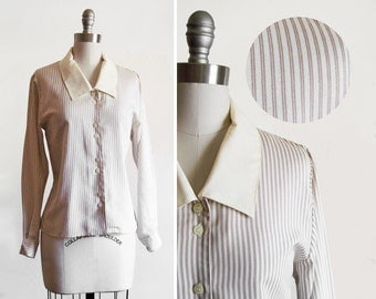 Vintage Annie Hall Menswear Style Dress Shirt