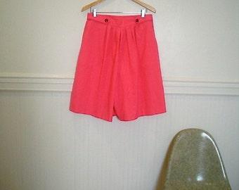 Vintage 80s Hot Pink Skorts / Shorts sz Large