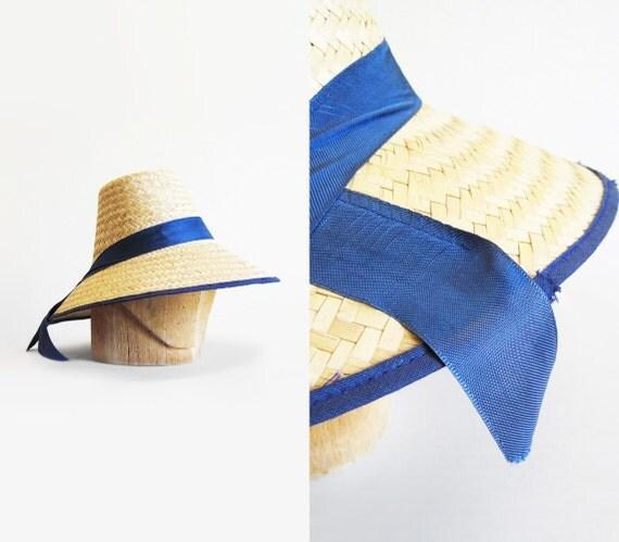 RESERVED Vintage Summer Straw Bucket Hat