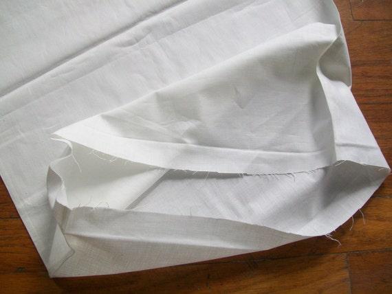 Vintage Linen Pillowcase Fabric Seamless Tube