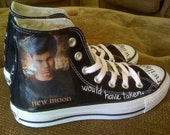 Twilight Hand painted Authentic Converse Shoes - Team Jacob