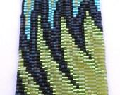 Electric Slash Peyote Stitch Cuff Bracelet EtsyFreeShipping