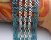 Surf Glass Peyote Stitch Bracelet EtsyFreeShipping