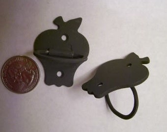 Cast Iron  Apple drawer pulls set of 2