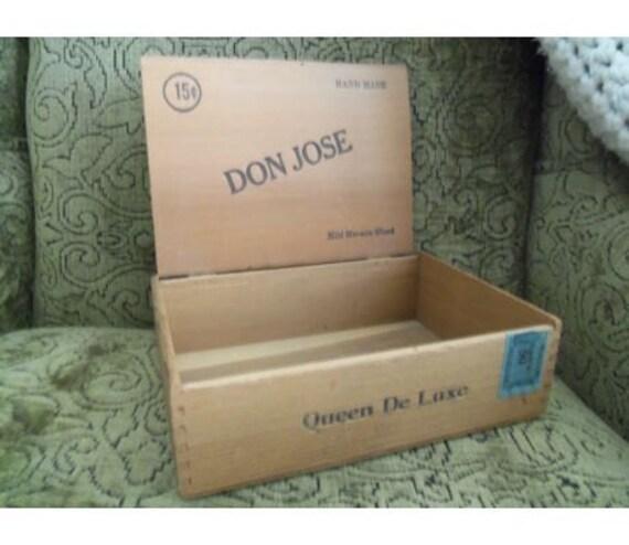 Cigar Box Wooden DON JOSE antique
