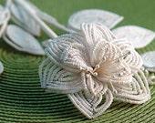 White Beaded Rose