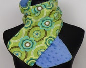 Flower Burst and Blue corduroy scarf
