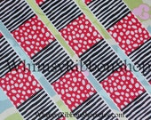 3 yards 7/8 Seuss -ical Cat the Hat Black white stripes red wacky dots on Grosgrain Ribbon sewing Hair Bows invitations Scrap Thing olivia