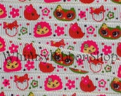 NEW 20 Yards 3/8 M2MG Fall for AUTUMN Owl fox squirel animals heads on White Grosgrain Ribbon sewing clips hairbows flowers dots