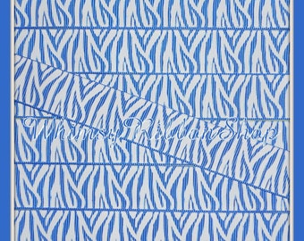 NEW 3 Yards 7/8 White Zebra stripes on ROYAL Blue Grosgrain Ribbon for Hair bows sewing clips LIMITED
