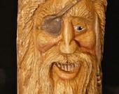 Wood Spirit Carving Scurvy Pirate