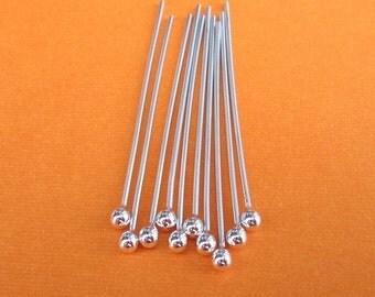 Handmade Supplies Ten 20 gauge argentium silver 1.5 inch headpins
