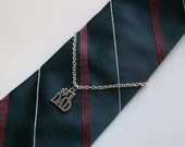 DAD Silver Chain Wire Wrapped Tie Chain - Holder