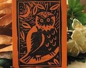 Little Owl Mini Lino Block Print